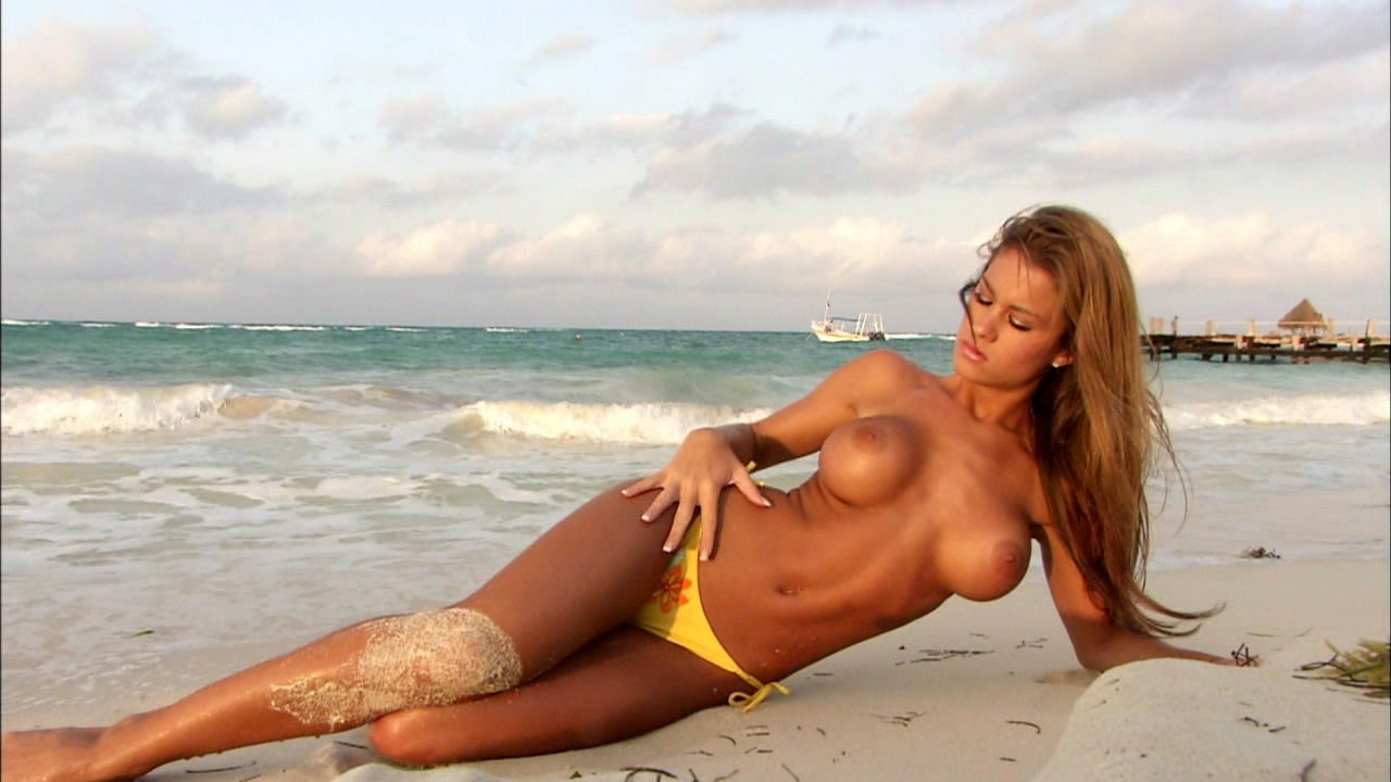 Female celebrities wrestling in bikinis