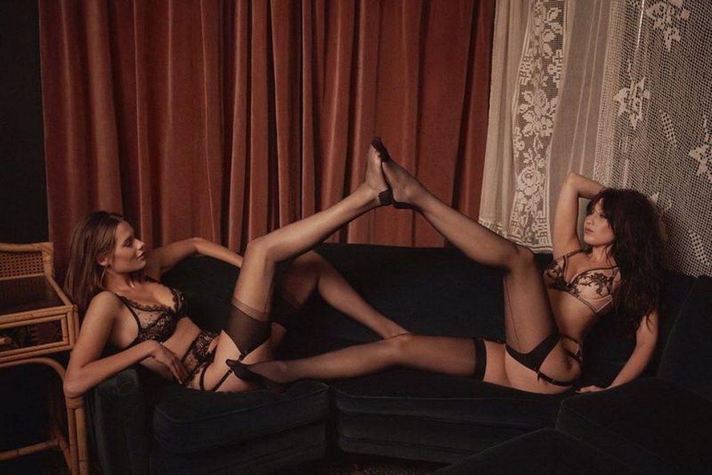 Nude and Lingerie Photoshoot: Solveig Mork Hansen, Daisy Lowe, Tali Lennox (18 Photos)