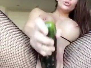 Allison Parker Nude Leaked Cucumber Masturbation SnapChat Video